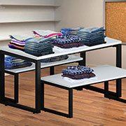 DMA Table for Merchandise Display Shopfitting Design Concepts