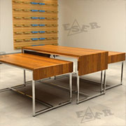 LG Table for Merchandise Display Shopfitting Design Concepts