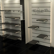 Slat Wall Aluminium System Shopfitting Design Concepts