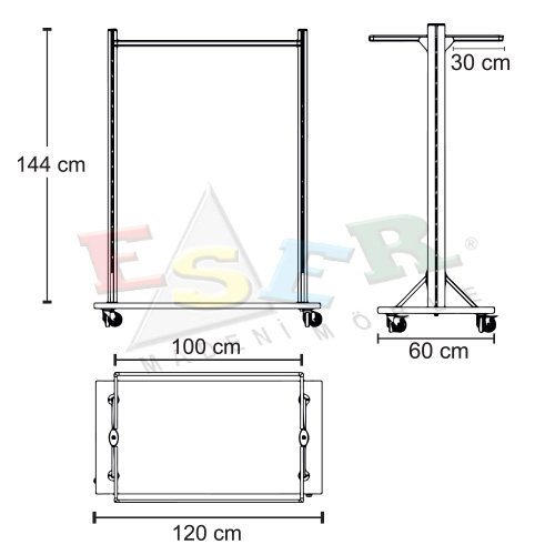 4420 TOSA-1 Stand With U Shape Hanging Rail