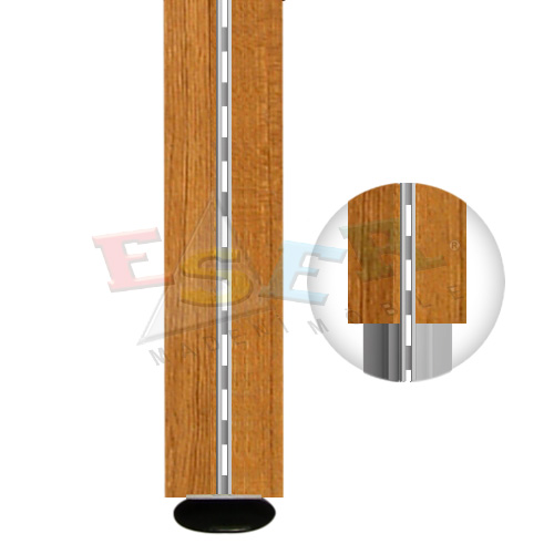 4430-A1 WOODEN COVERED ALUMINIUM PROFILE (Single Slotted)