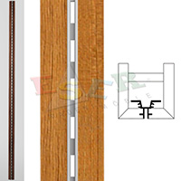 4430-A2 WOODEN COVERED ALUMINIUM PROFILE (Single Slotted)