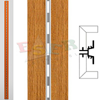 4430-A3 WOODEN COVERED ALUMINIUM PROFILE (Single Slotted)