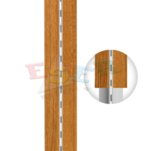 4470 QA - A2 WOODEN COVERED ALUMINIUM PROFILE Single Slotted