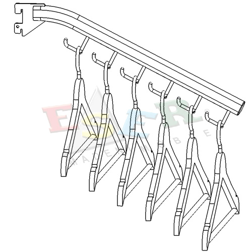 B1-T-P Front Arm With Hooks