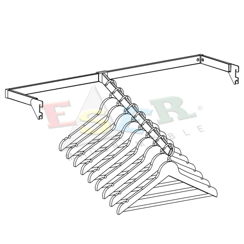 DUB-1-K U Shape Hanging Rail - Short