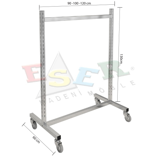 K2 TS-1-T Gondola Frame (Double Sided) With Castors