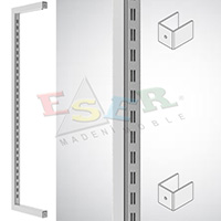 K4 SQUARE VERTICAL SLOT SYSTEM (Double Slotted) (Wall - Wall)