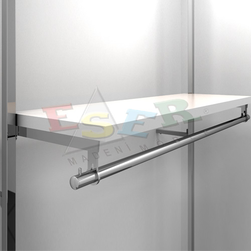 LMRK-4 Bracket for Side Hanging Rail and Wooden Shelf