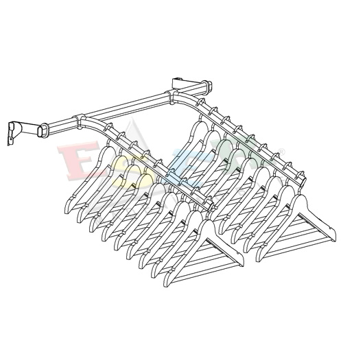 LMRK-7 Bracket for Side Hanging Rail