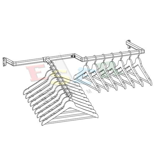LUB-2 SAG U Shape Hanging Rail - Right