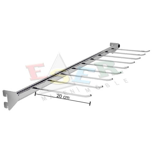 PAB-1-K Hook Rail for Ties, Belts etc.