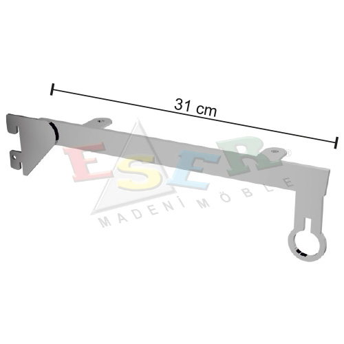 PMRK-4 Bracket for Side Hanging Rail and Wooden Shelf