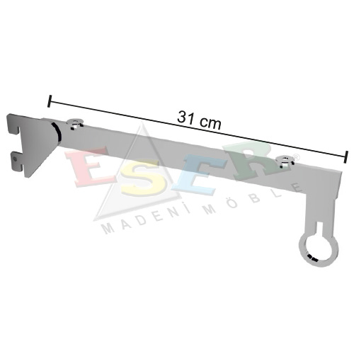 PMRK-4C Bracket for Side Hanging Rail and Glass Shelf