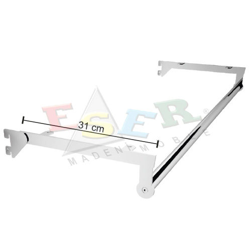 PUB-4 U Shape Hanging Rail and Wooden Shelf