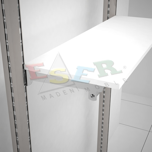 RK-2-K Bracket for Side Hanging Rail and Wooden Shelf