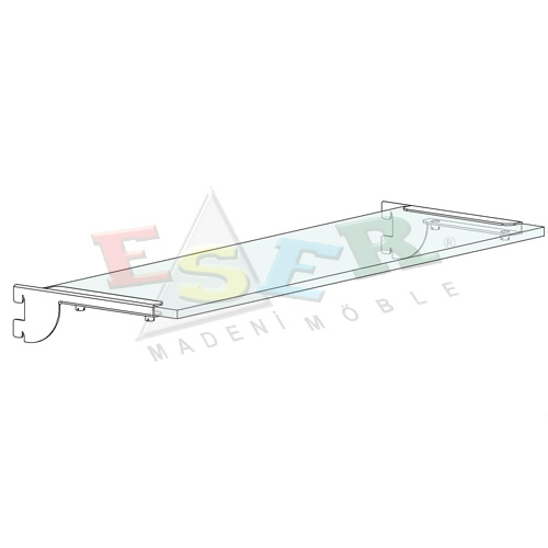 RK-3-C Bracket for Glass Shelf