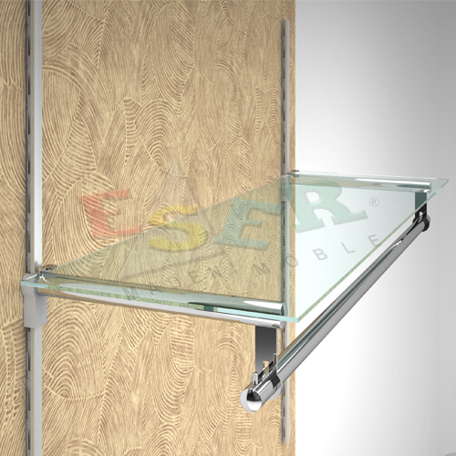 RMRK-4C Bracket for Side Hanging Rail and Glass Shelf