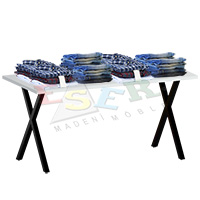 XMA 40 - 1 Table for Merchandise Display 160 x 75 cm h 72 cm