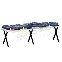 XMA 40 - 2 Table for Merchandise Display 300 x 75 cm h 72 cm